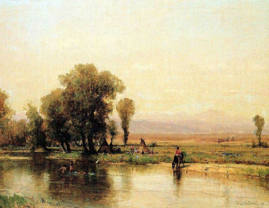 Encampment Along The Platte by Worthington Whittredge