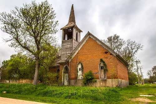 Methodist Church in Oakdale Nebraska as it appears today